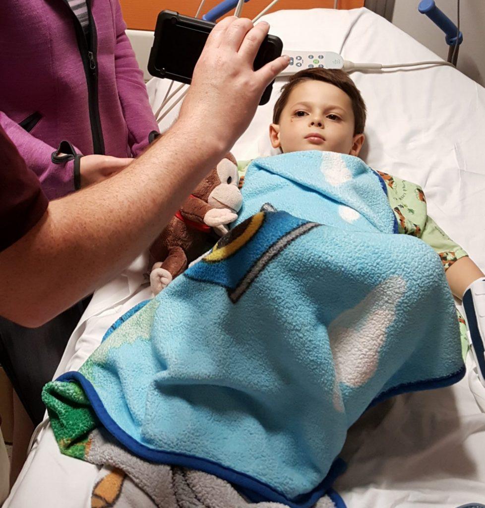Baby G has a seizure