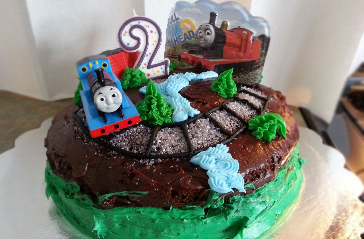 Second Birthday Cake Choo Choo Train Inacove